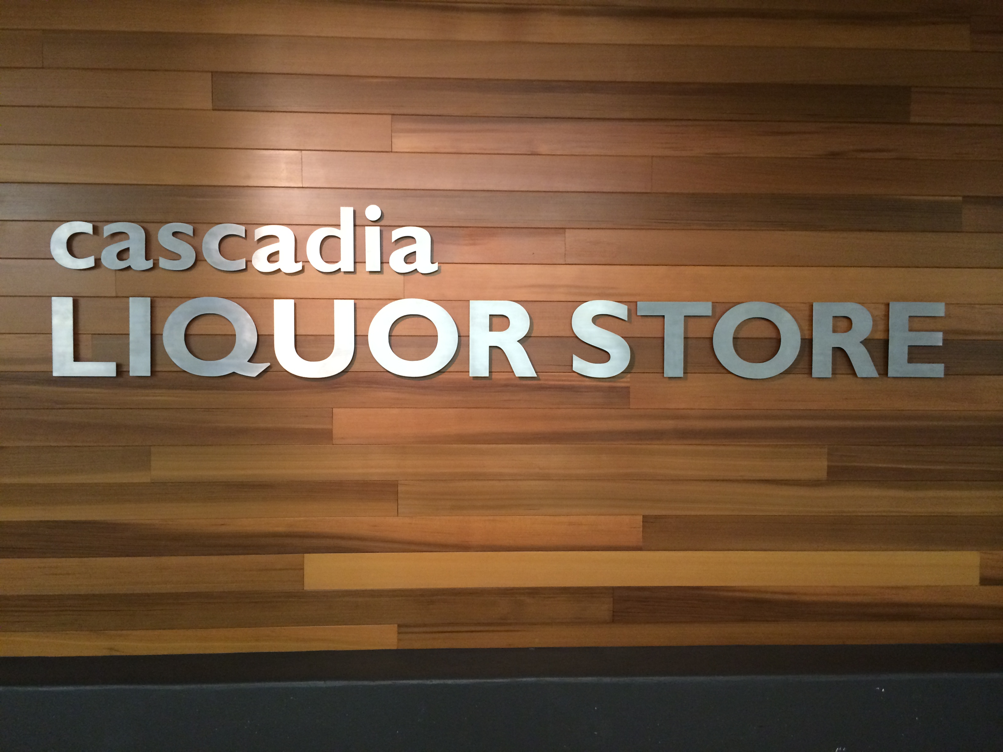 Cascadia Liquor Store Sign